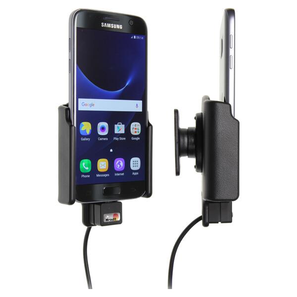 Brodit držák do auta na Samsung Galaxy S7 bez pouzdra, se skrytým nabíjením 513863 Černá