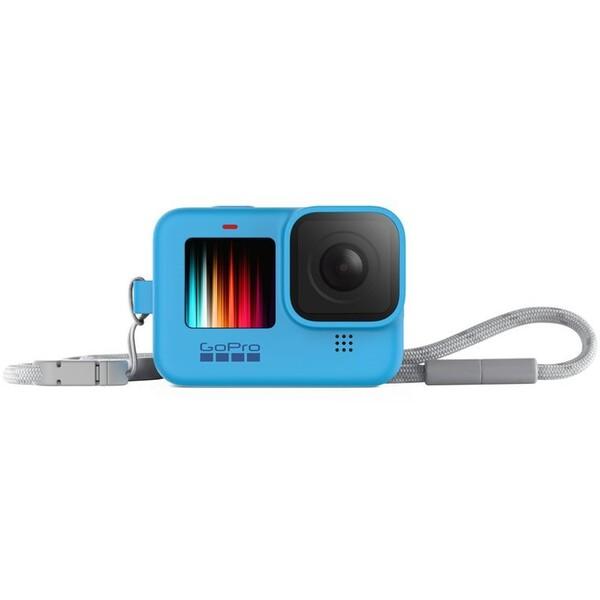 GoPro silikonové pouzdro + šnůrka HERO9 modré