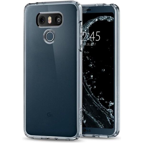 Pouzdro Spigen Ultra Hybrid kryt LG G6 Crystal Clear Čirá