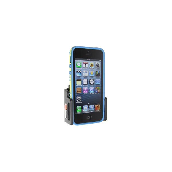 Brodit držák do auta na Apple iPhone 5/5S/5C/SE v pouzdru, nastavitelný, bez nabíjení 511428 Černá