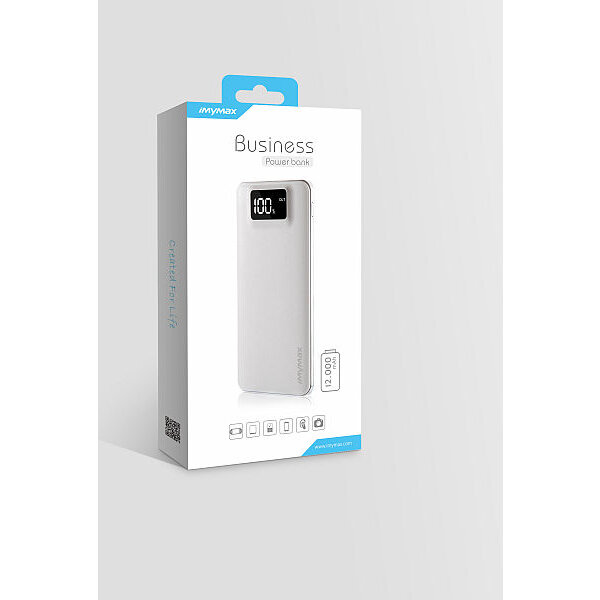 iMyMax Business Power Bank 12.000mAh, White Bílá