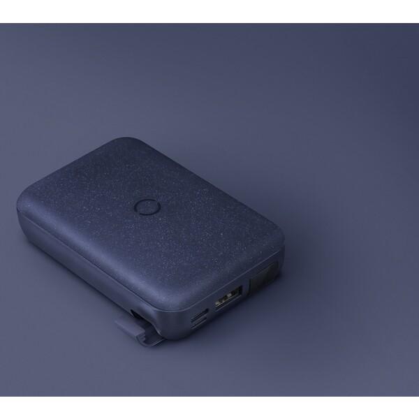 UNIQ HYDE AIR USB-C 18W PD powerbanka s bezdrátovým nabíjením 10000mAh tmavě modrá