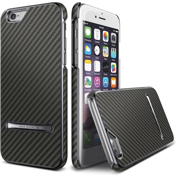Verus Carbon Stick pouzdro iPhone 6/6S titanové