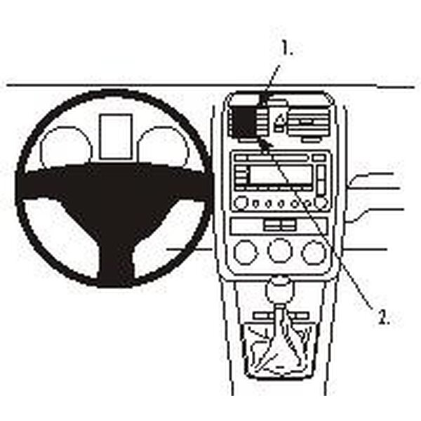 Brodit ProClip montážní konzole pro Volkswagen Jetta 06-07
