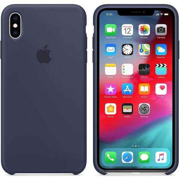 Apple silikonový kryt iPhone XS Max půlnočně modrý