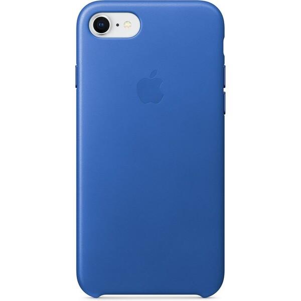 Pouzdro Apple iPhone 7/8 Leather Case elektro modré Elektro modrá