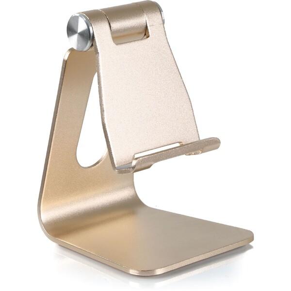Desire2 univerzální hliníkový stojánek pro mobilní telefony Zlatá