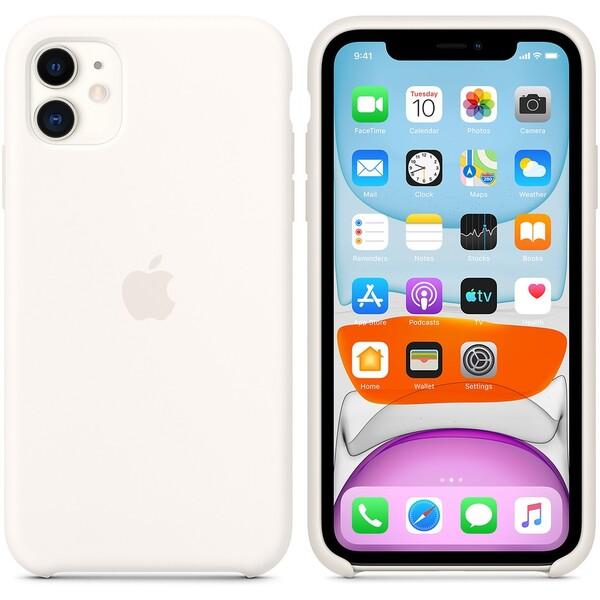 Apple silikonový kryt iPhone 11 bílý