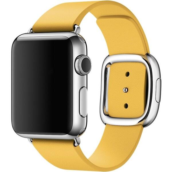 Apple Watch řemínek s moderní přezkou 38mm M měsíčkově žlutý