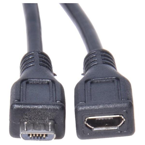 PremiumCord prodlužovací micro USB 2.0 M-F 5m