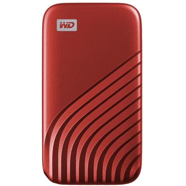 WD My Passport externí SSD 2TB červený