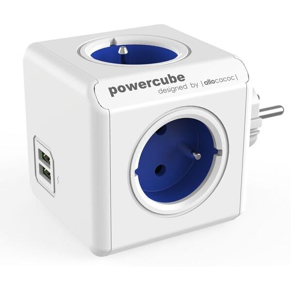 PowerCube Original USB zásuvka modrá