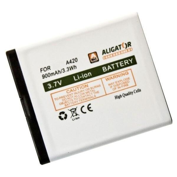 Baterie Aligator A420BAL Bílá
