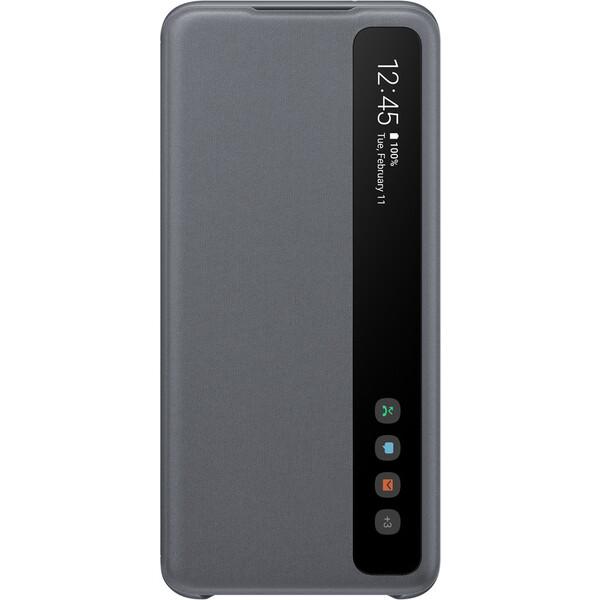 Samsung EF-ZG980CJ Clear View flipové pouzdro Galaxy S20 šedé