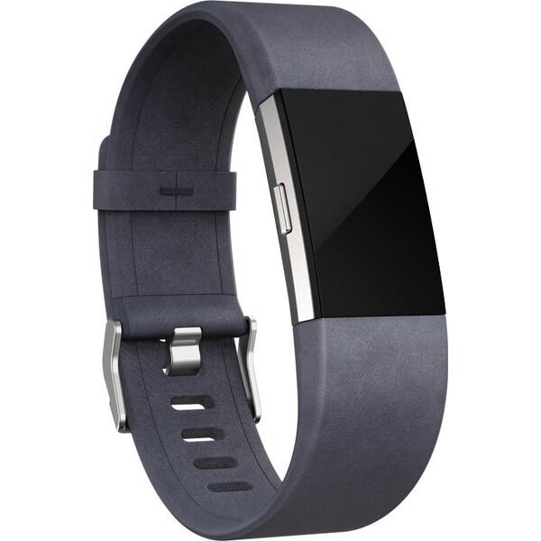 Fitbit náhradní kožený náramek Charge 2 L šedý