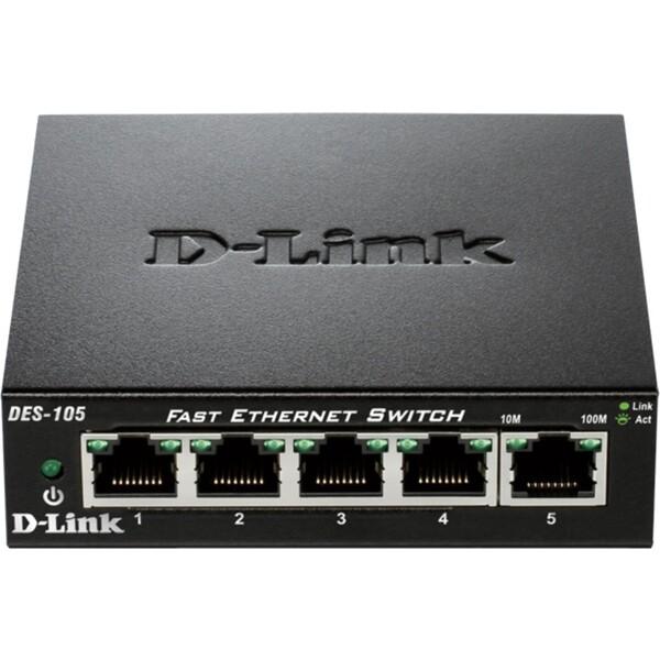 D-Link DES-105 5-portový 10/100 Switch