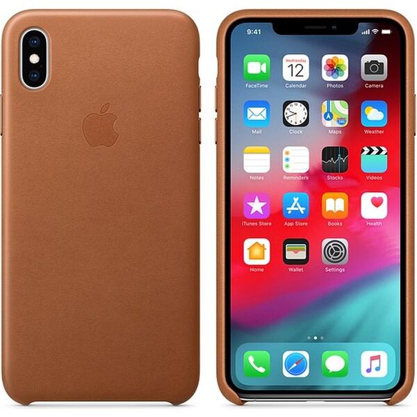Pouzdro Apple Leather Case Apple iPhone XS MAX MRWV2ZM/A Sedlově hnědá