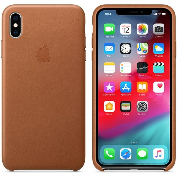 Apple kožené pouzdro iPhone XS Max sedlově hnědé