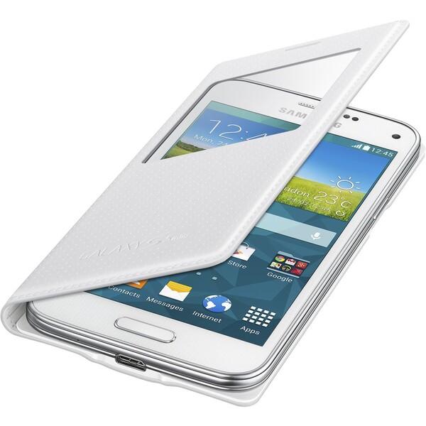 Samsung EF-CG800BH flip S-View pouzdro S5 mini bílé