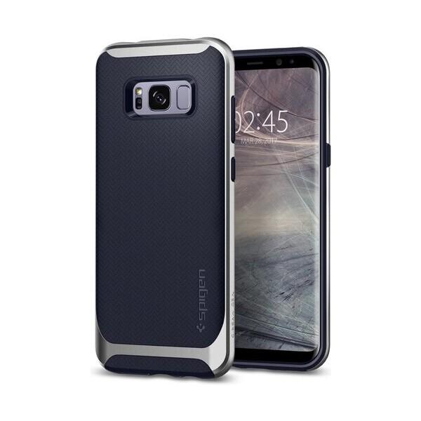 Pouzdro Spigen Neo Hybrid Crystal Samsung Galaxy S8+ Stříbrná