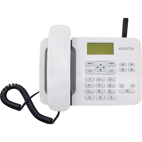 ALIGATOR T100 stolní GSM telefon bílý