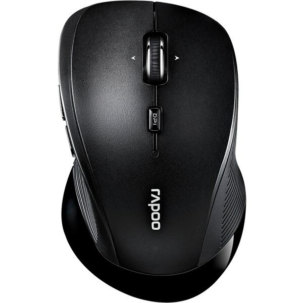 Rapoo 3910 laserová bezdrátová myš černá