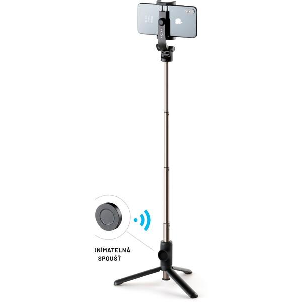 """FIXED Snap selfie tyč s 3/4"""" závitem a dálkovou spouští černá"""