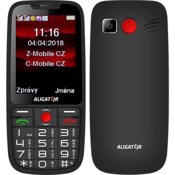 ALIGATOR A890 GPS Senior černý
