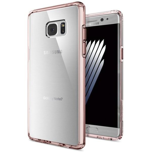 Spigen Ultra Hybrid kryt Samsung Galaxy Note 7 čirý-růžový