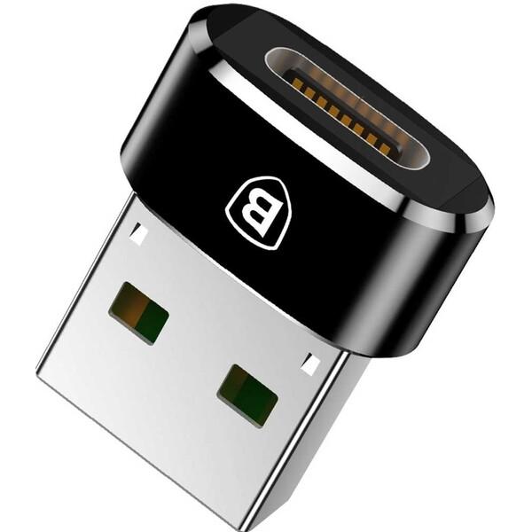 Baseus převodník USB-A na USB-C černý