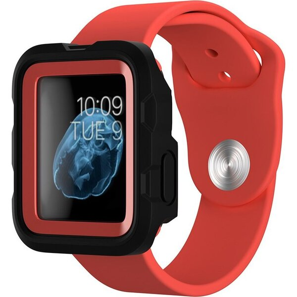 Griffin Survivor Tactical odolný kryt Apple Watch (38mm) červený