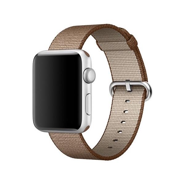Apple Watch tkaný nylonový řemínek 42mm kávově/karamelově hnědý