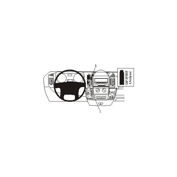 Brodit ProClip montážní konzole pro Citroen Jumper 07-/Fiat Ducato 07-/Peugeot Boxer 07-