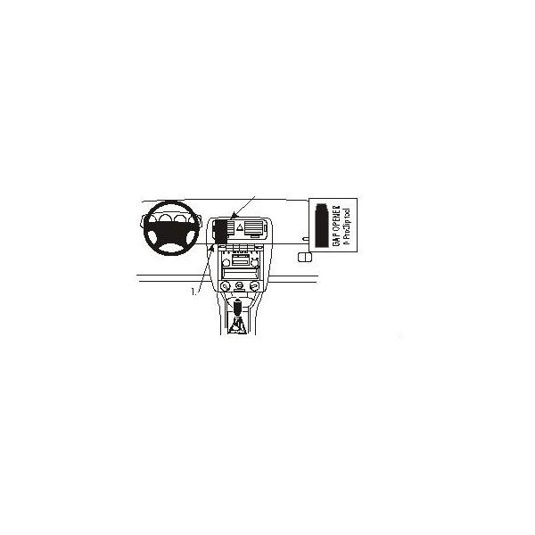 Brodit ProClip montážní konzole pro Škoda Fabia 00-
