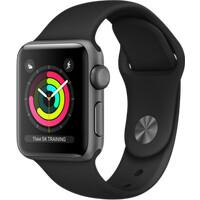 d364c400336 Apple Watch Series 3 38mm vesmírně šedý hliník s černým sportovním řemínkem  (2017)