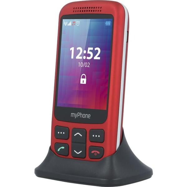 myPhone Halo S s nabíjecím stojánkem červený
