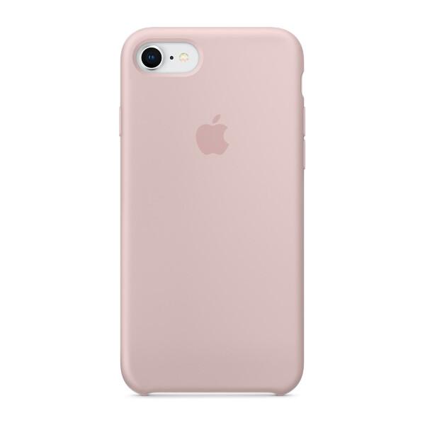 Apple silikonový kryt iPhone SE (2020) / 8 / 7 pískově růžový