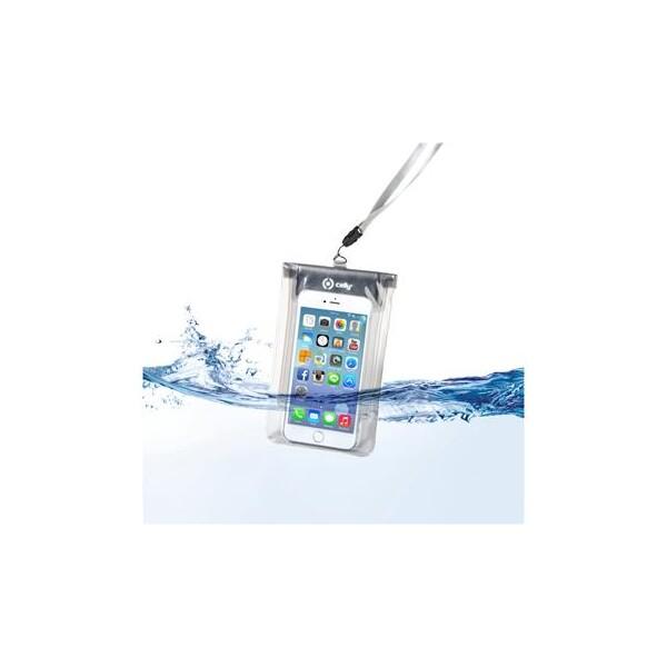 "Pouzdro CellY Splash Bag telefony 5,7"" - bílé Bílá"