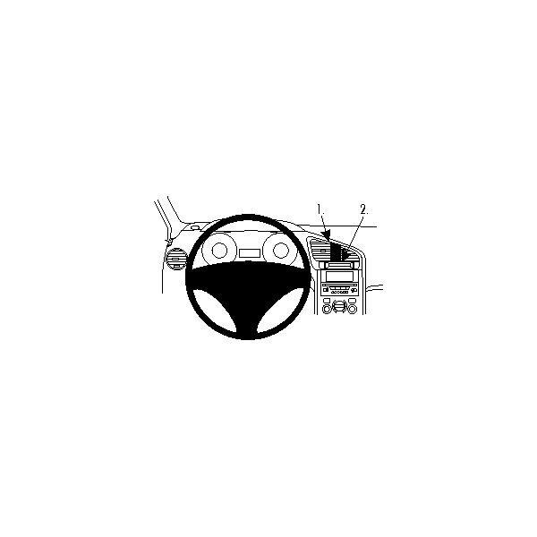 Brodit ProClip montážní konzole pro Peugeot 5008 10-17, na střed 854439 Černá
