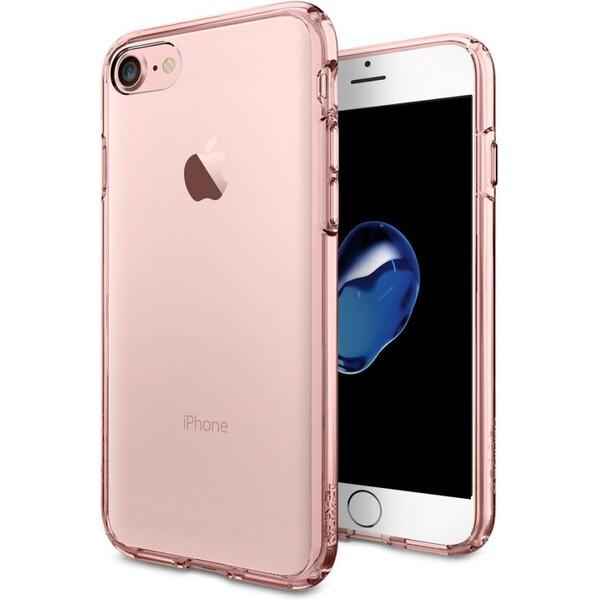 Pouzdro Spigen Ultra Hybrid Apple iPhone 7 růžové Růžová
