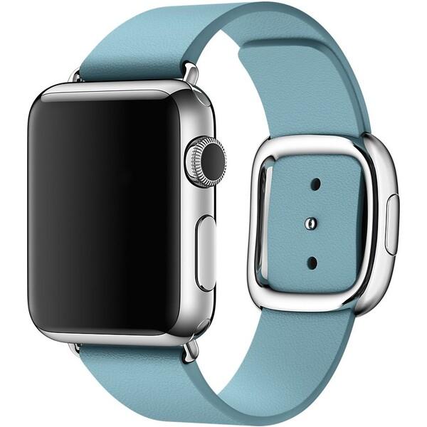 Apple Watch řemínek s moderní přezkou 38mm M ledňáčkově modrý
