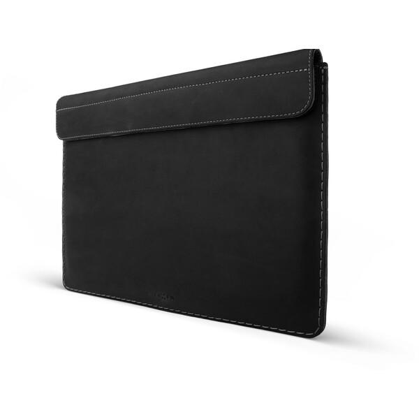 """FIXED Oxford kožené pouzdro Apple MacBook Air 13"""" Retina (od roku 2018) černé"""