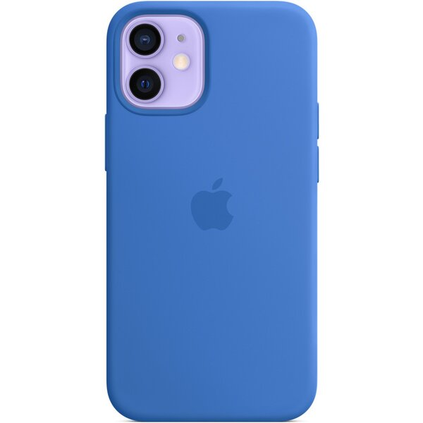 Apple silikonový kryt s MagSafe na iPhone 12 mini středomořsky modrý