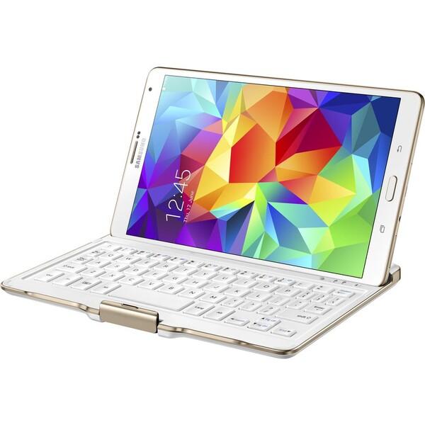 Samsung EJ-CT700UW pouzdro s klávesnicí Galaxy Tab S 8.4 bílé
