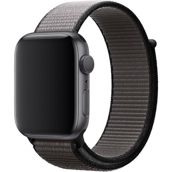 Apple Watch provlékací sportovní řemínek 44/42mm černošedý