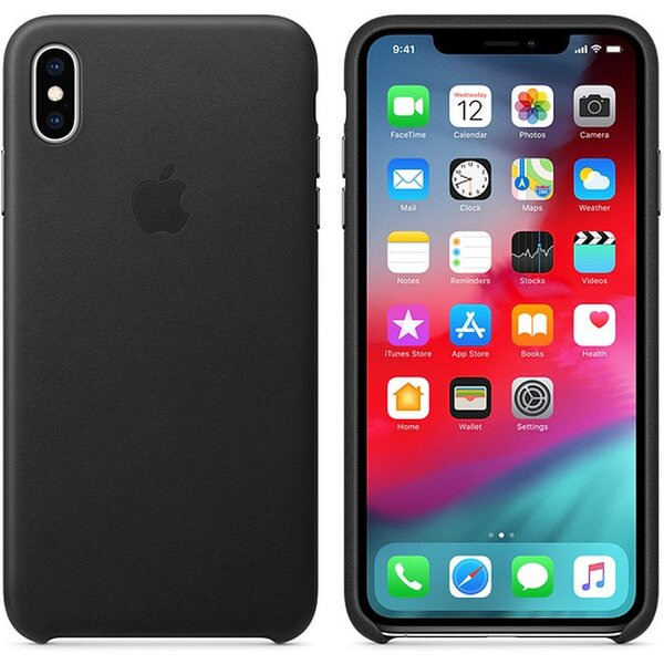 Apple kožené pouzdro iPhone XS Max černé