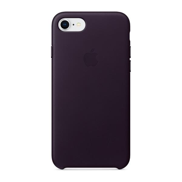 Pouzdro Apple kožené iPhone 8/7 lilkově fialové Lilkově fialová