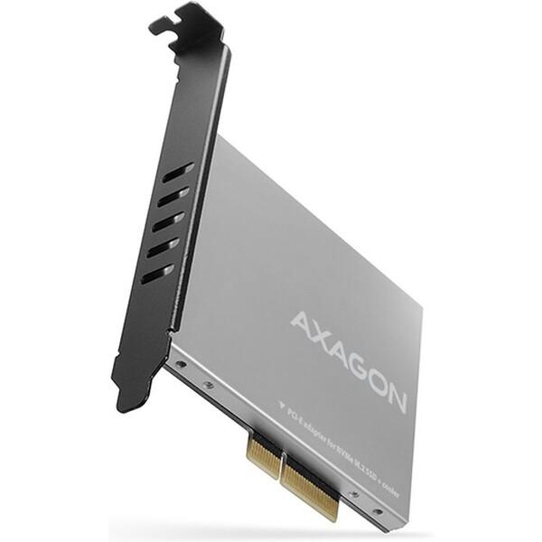 AXAGON PCEM2NC PCIe x4 M.2 NVMe Mkey slot adaptér pasivní chladič