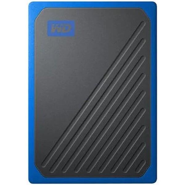 WD My Passport GO externí SSD 500GB černomodrý