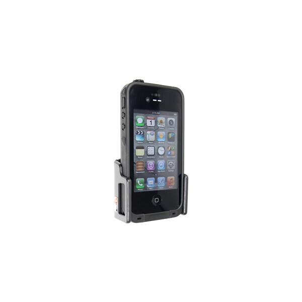Brodit držák do auta na mobilní telefon nastavitelný, bez nabíjení, š. 62-77 mm, tl. 12-16 mm 511309 Černá
